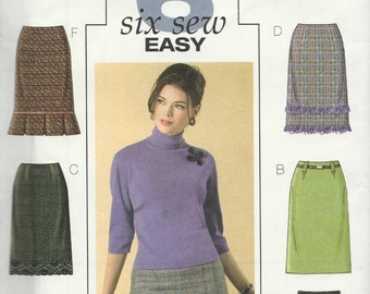 Butterick 4613 Size 6-8-10-12 Misses Misses Petite Semi- Fitted Straight Skirt