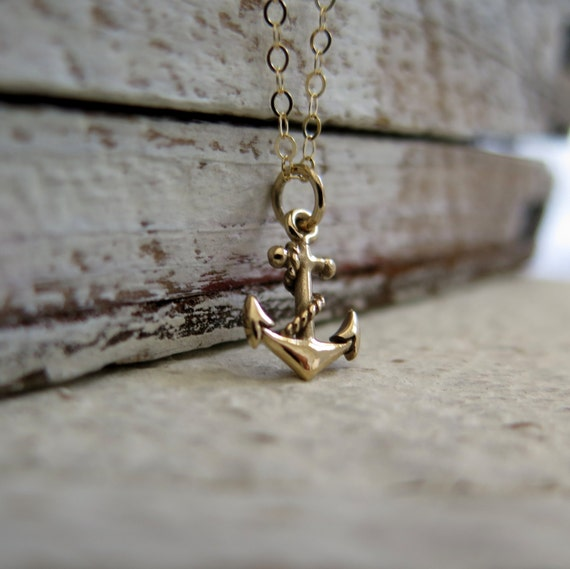 Anchor Necklace, Gold Anchor Necklace, Christian Jewelry, Anchor Of My Soul, Symbol Of Hope