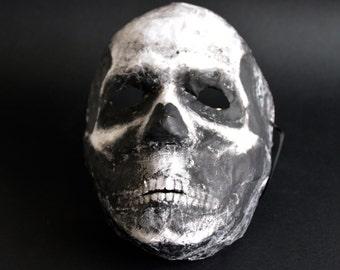 Skull mask Halloween mask Paper mache mask