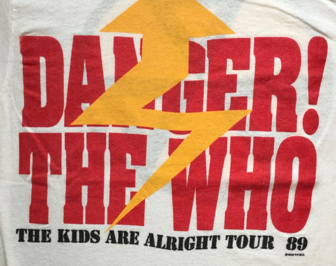 1989 The Who The Kids Are Alright Tour T-shirt