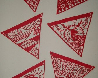 Papercut Template Set - Scandinavian Style Bunting