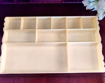 Scalloped Vanity Tray from 1950s Vintage