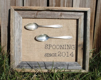 Spooning Gift, Spooning Since, Anniversary Gift, Gifts for Her, Gifts for Him, Wedding Anniversary, Wedding Gift, Couple's Gift, Valentines