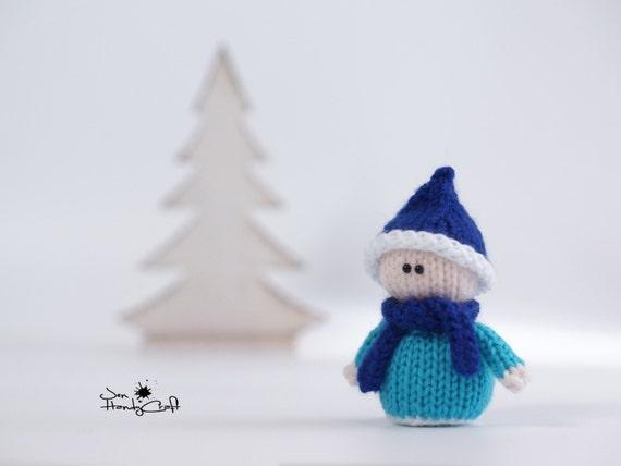 Christmas elf Miniature stuffed elf doll Christmas gift Miniature gnome doll Xmas elf Winter holiday decor Christmas decor Stocking filler