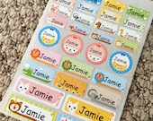 Waterproof kids name labels Daycare labels School labels Kids name stickers Personalized name labels Preschool labels Baby bottle labels