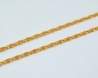 """18K Gold Filled Chain 16.5"""" Inch Square Cg52"""