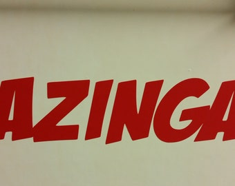 19cm Bazinga! die cut vinyl car/window sticker