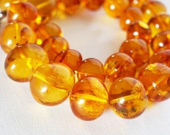 Necklace Natural Baltic Amber - balls, 83 g