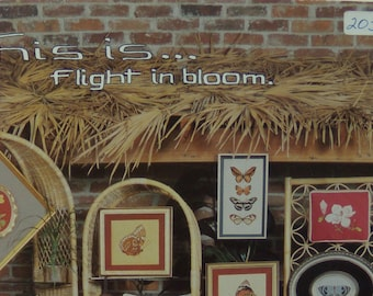 This is Flight in Bloom Counted Cross Stitch Book Butterflies and Flowers