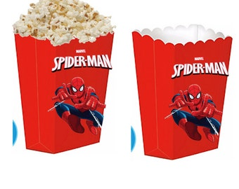 Spiderman treat boxes
