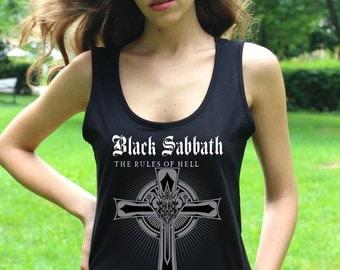 Black Sabbath Shirt Black Sabbath T Shirt Black Sabbath Tank Top Heavy Metal Women Tank Tops Hard Rock Shirts
