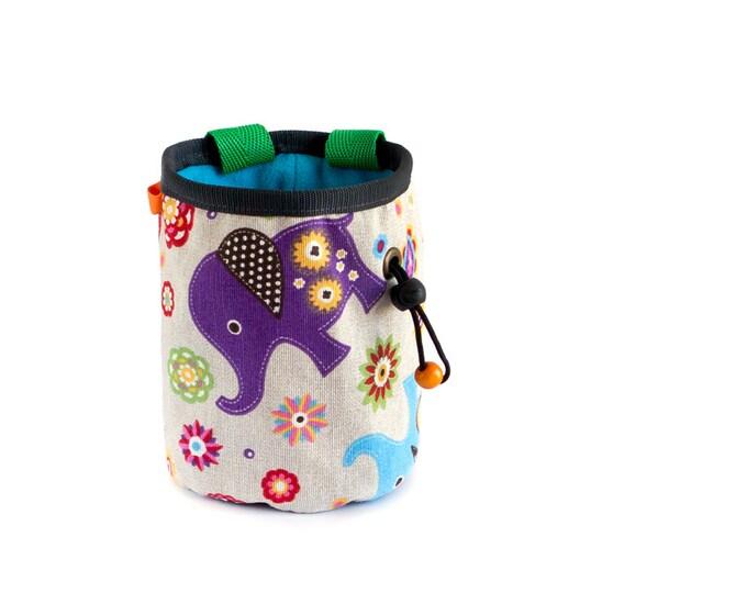 Lightweight Chalk Bag. Climbing Chalk Bag Handmade Climbing Gear, M Size