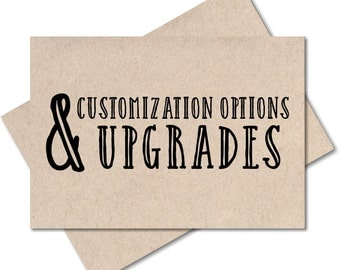 Customization Options & Upgrades