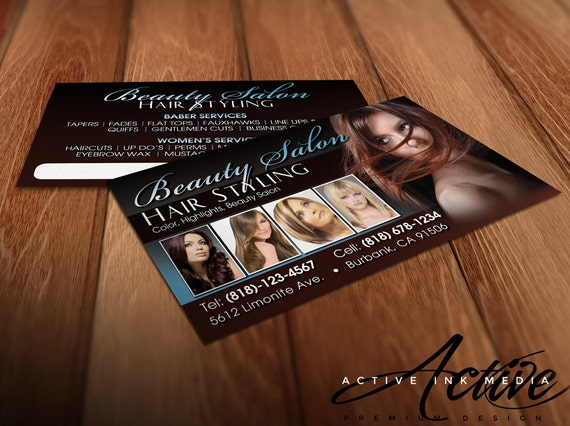 Hair stylist business cards business card design stylist for Business cards hair stylist