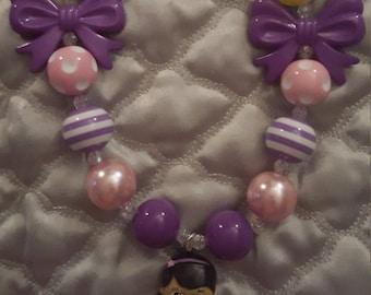 Doc Mcstuffins inspired necklace