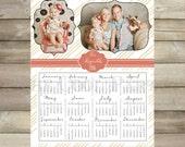 2016 calendar printable,calendar photo,8x10 Calendar