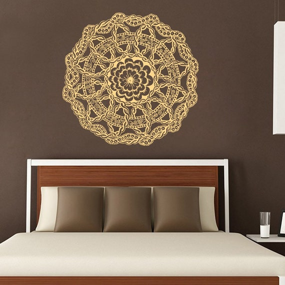 Mandala Wall Decal Lotus Stickers Yoga Studio By Amazingdecalsart