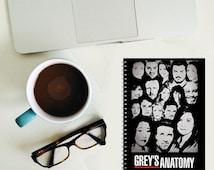 Grey's Anatomy spiral notebook - Geek - Nerd -  book lover Gift