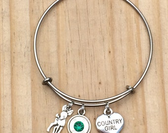 Country girl charm bracelet