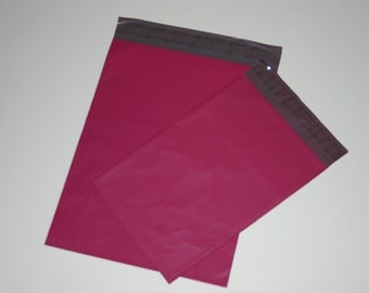 100 10x13 and 7.5x10.5 Raspberry Poly Mailers Envelopes  Self Sealing Assortment Valentine 50 each