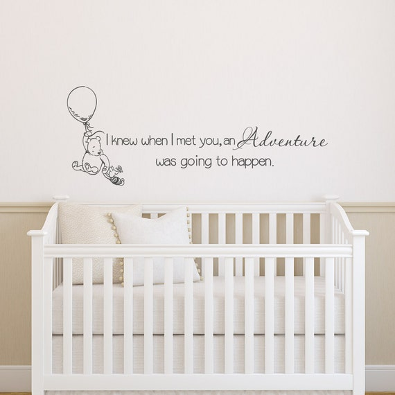 Bear Home Decor Classic Winnie The Pooh Custom Wall Decal Quote I Knew