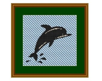 Dolphin Counted Cross Stitch Pattern. PDF Instant Download. Pattern. Decor Pattern. Animals Pattern.