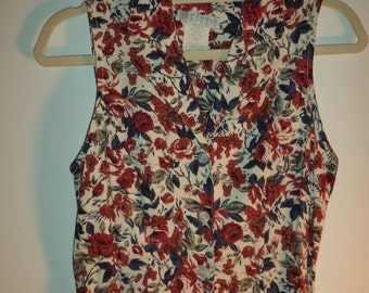 90s long boho dress// Floral maxi tie back floral bohemian grunge peasant hipster button front// Vintage JM Studio// Size small 2 3 4 5 USA