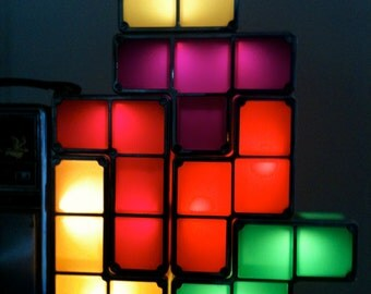 Tetris Constructable Light / Official Tetris Product / 1980's Arcade Collectible