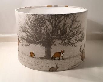 Woodland Fox Design Handmade Lampshade 20cm, 30cm, 40cm