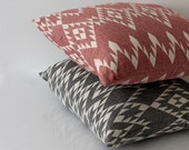 "Navajo Pillow Throw 18""x18"" | Burgundy Aztec Tribal Pillows Cases | Geometric Pillow Case | Bohemian Style Outdoor | Southwestern Design"