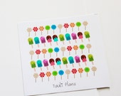 Planner stickers: candy and icecream | Perfect for your filofax / erin condren planner etc