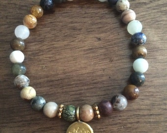 4mm Mixed Stone Soul Bead Bracelet