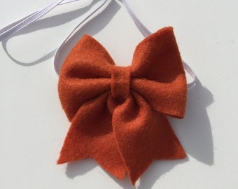 Burnt Orange Felt Bow