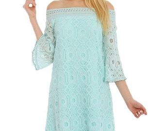 Off Shoulder Floral Lace Tube Dress