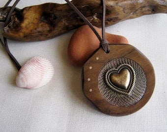 "Handmade Wooden Necklace ""For You"""