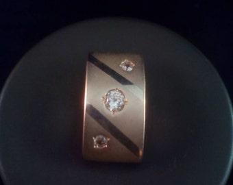SALE! Matte finish sterling silver cz slide pendant