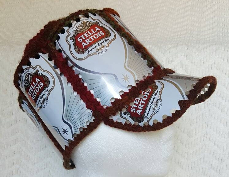 crochet beer can hat instructions