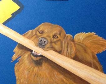 Golden Retriever Trenton Thunder, Chase the Bat Dog