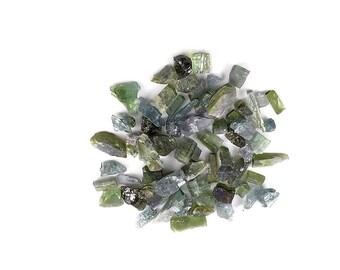 Raw Green Tourmaline Nuggets A135
