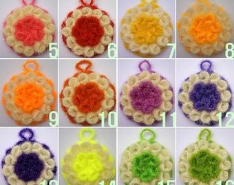 Buy 5 Get 1 Free / Crochet Flower Dish Scrubbies / Flower Susemi / Dish Scrubbies / Scrubber