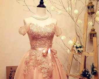 Isabella pastel pink dress