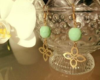 Mint Flower Earrings