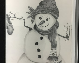 Snowman notecards Set 3