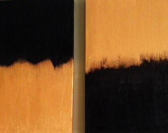 "Painting - Acrylic on canvas entitled ""Gold or Black.""   11x14"