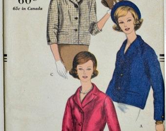 Uncut 1950s Vogue Vintage Sewing Pattern E-16, Size 11, Vogue Young Fashionables; Jacket