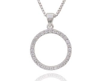 Circle of life necklace,eternity necklace, gold and diamond necklace