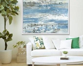 Abstract Print, Coastal Art, Abstract Painting, Art Print, Abstract Seascape, Abstract Art, Blue Abstract, Giclee Print ,Acrylic Painting
