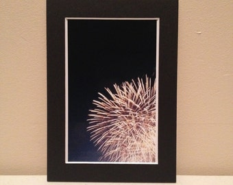 Matted 4x6 photograph: Fireworks