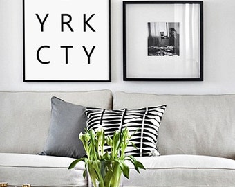 NYC, New York City, New York Print, NY Typography, NYC Typography, New York Printable, New York, New York Name, New York Letters, Typography