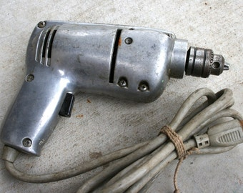 "Van Camp Electric Drill//1/4"" Drill Model No. 740C//Made in USA//Vintage Electric Drill"